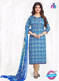 Buy Aashirwad 17009 Blue Cotton Satin Formal Suit Online