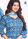 AZ 3562 Blue Cotton Satin Formal Suit - Salwar Suits - NEW SHOP