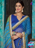 AZ 2016 Blue and Green Georgette Fancy Formal Saree - Sarees - NEW SHOP