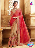 SC 13678 Red and Brown Exclusive Designer Fancy Ethnic Wedding Wear Saree