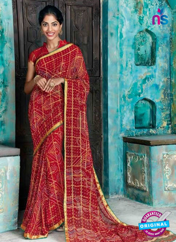 AZ 2017 Maroon Georgette Fancy Formal Saree