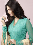 Ekta 1701  Sea Green Color Chiffon Designer Suit Online Shopping