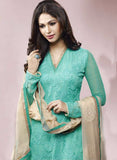 Ekta 1701 Sea Green Color Chiffon Designer Suit Online