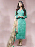 Ekta 1701  Sea Green Color Chiffon Designer Suit