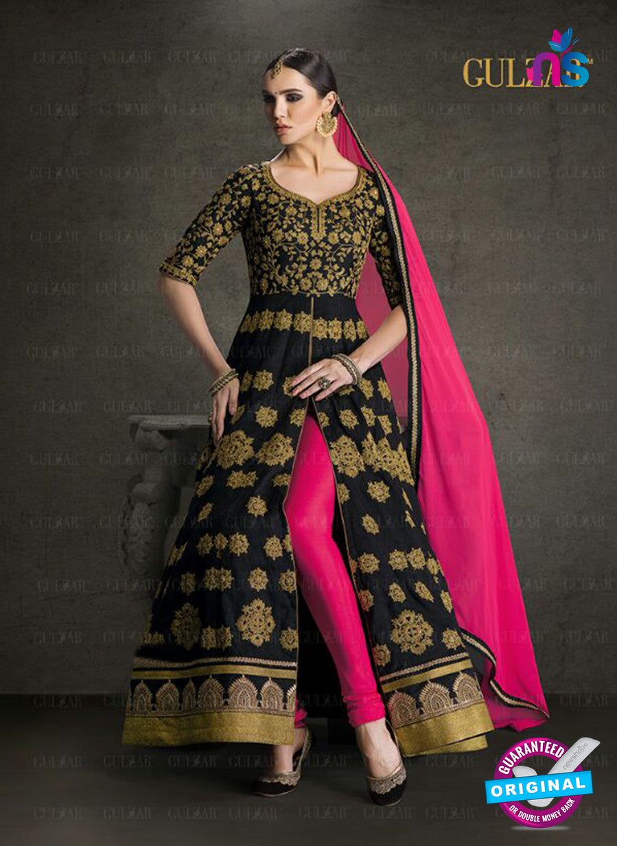 AZ 3909 Black Banglori Silk Anarkali Suit