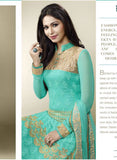 Ekta 1707  Sea Green Color Chiffon Designer Suit