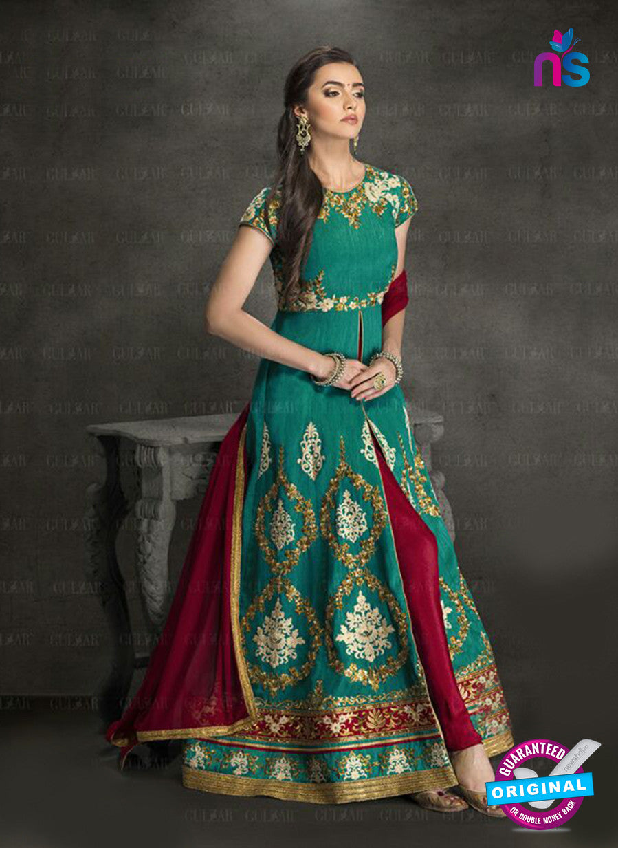 AZ 3912 Sea Green Silk Anarkali Suit