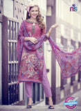 Teazle 1708 Purple Fine Cotton  Designer Suit