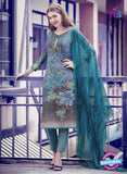 Teazle 1709 Sea Green  Fine Cotton  Designer Suit