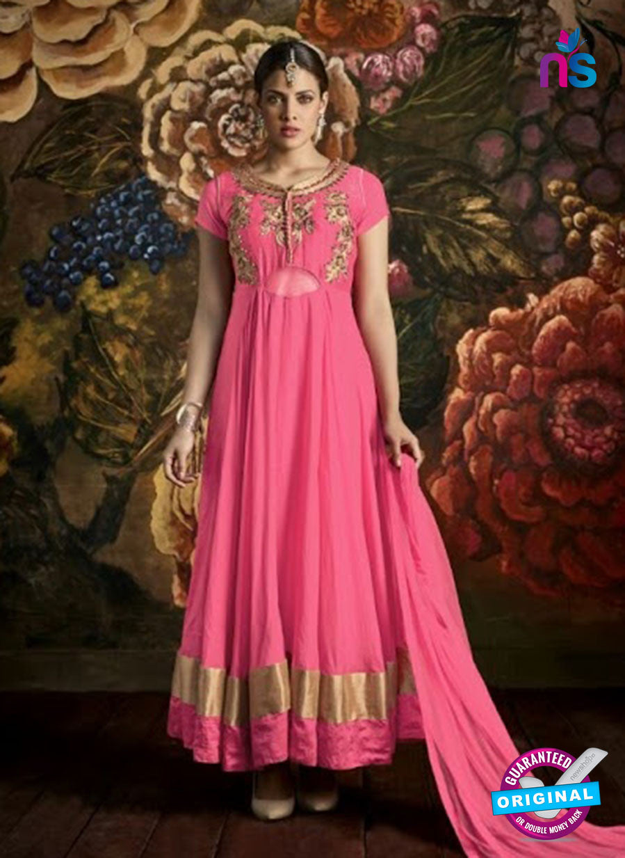 AZ 3484 Pink Georgette Anarkali Suit