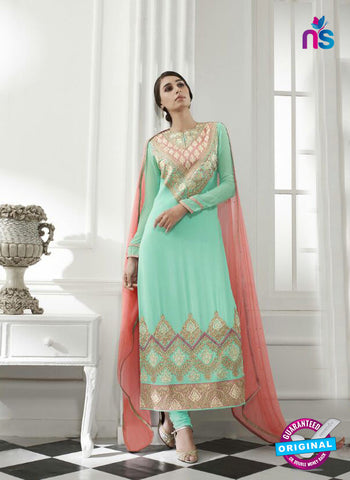 Eternal 170 Sea Green Georgette Embroidery Party Wear Suit