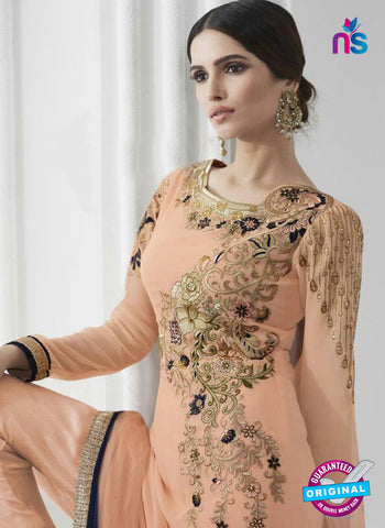 Eternal 171 Peach Georgette Embroidery Party Wear Suit Online