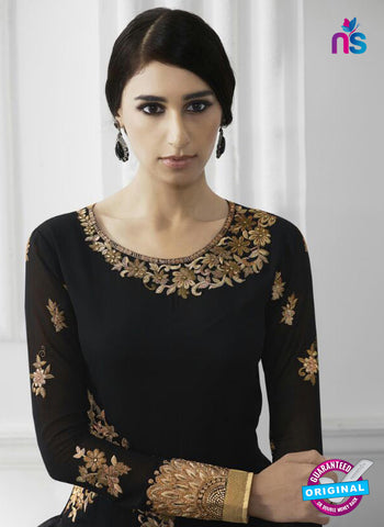Eternal 172 Black Georgette Embroidery Party Wear Suit Online