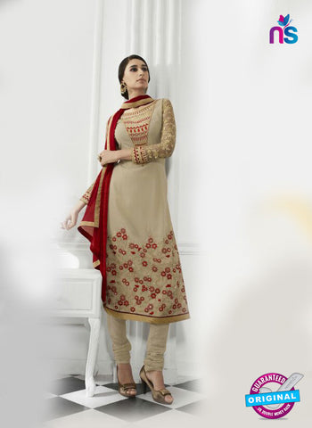 Eternal 173 Beige Georgette Embroidery Party Wear Suit