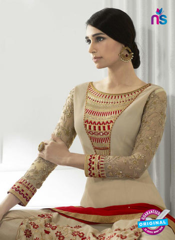 Eternal 173 Beige Georgette Embroidery Party Wear Suit Online
