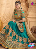 Vinay Fashion 17432 Sea Green Silk Wedding Lehanga Online