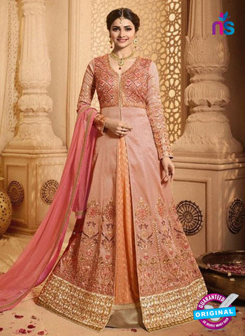 Vinay Fashion 17433 Pink Silk Anarkali Suit