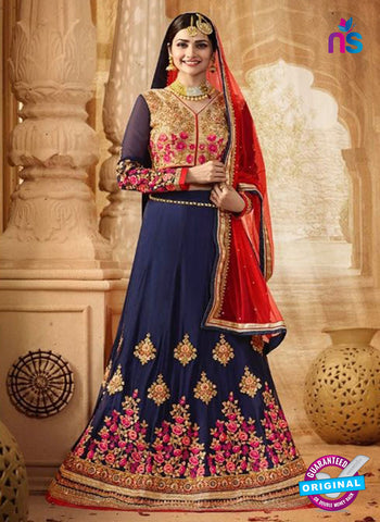Vinay Fashion 17434 Blue Georgette Wedding Lehanga