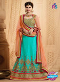 Vinay Fashion 17437 Sky Blue Silk Wedding Lehanga