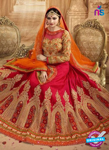 Vinay Fashion 17438 Red Silk Wedding Lehanga Online Shopping