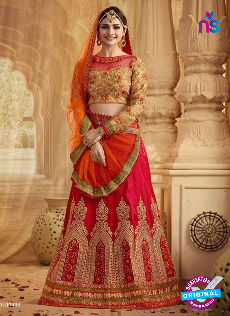 Vinay Fashion 17438 Red Silk Wedding Lehanga