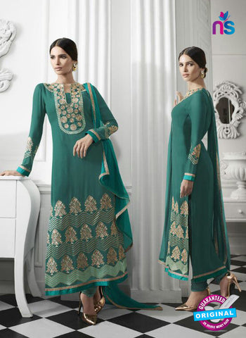 Eternal 174 Sea Green Georgette Embroidery Party Wear Suit