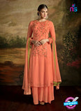 AZ 3488 Orange Georgette Party Wear Suit - Salwar Suits - NEW SHOP