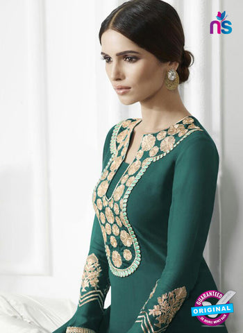 Eternal 174 Sea Green Georgette Embroidery Party Wear Suit Online
