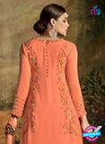 AZ 3488 Orange Georgette Party Wear Suit