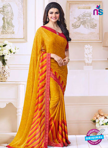 Vinay Fashion 17614 Yellow Georgette Printed Saree