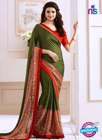 Vinay Fashion 17615 Green Georgette Printed Saree