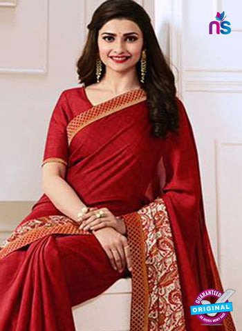 Vinay Fashion 17621 Red Georgette Printed Saree