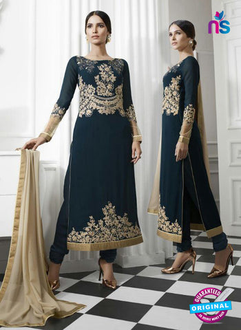 Eternal 176 Blue Georgette Embroidery Party Wear Suit Online