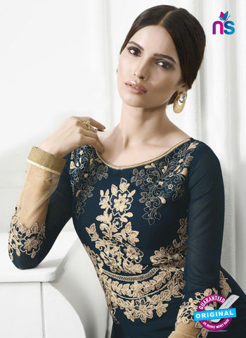 Eternal 176 Blue Georgette Embroidery Party Wear Suit