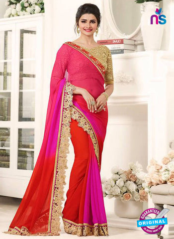 Vinay Fashion 17710 Red and Pink Bollywood Saree