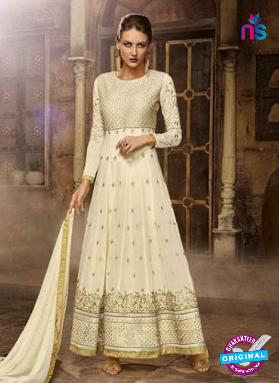 Eternal 177 Beige Faux Georgette Anarkali Suit
