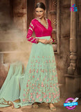 Eternal 178  Sea Green Silk and Net Anarkali Suit