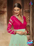 buy Sea Green Silk and Net Anarkali Suit online