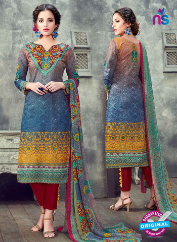 RT 17943 Blue Cotton Suit
