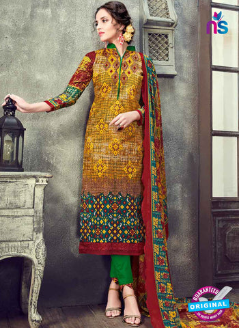 RT 17944 Yellow Cotton Suit