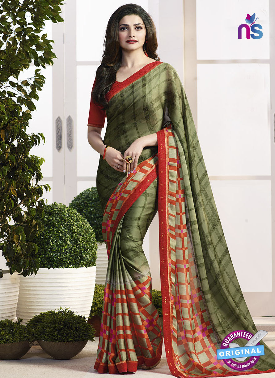 Vinay Fashion 17978 Mehandi Green Casual Saree