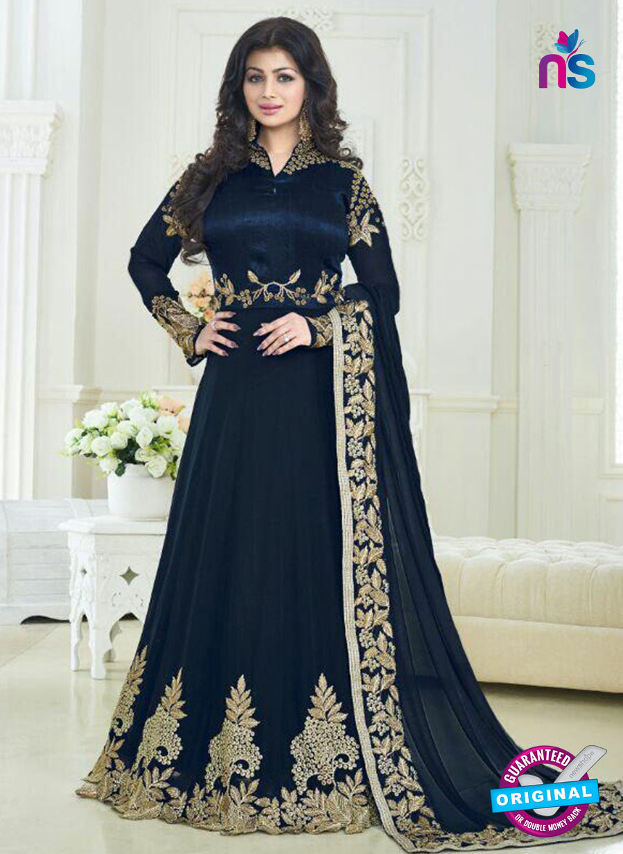 Buy Volono Pari 179 Blue Georgette and Silk Anarkali Suit Online
