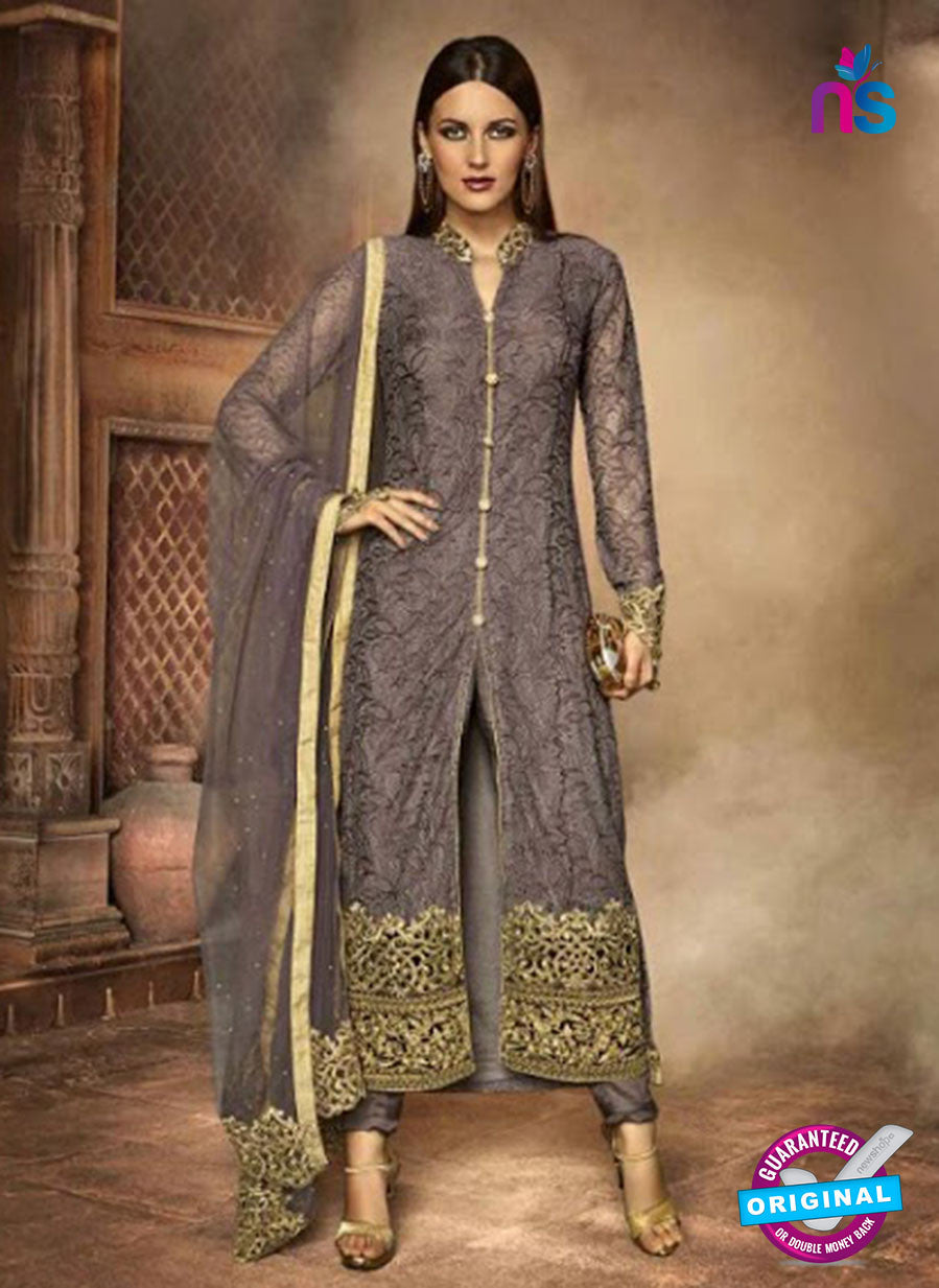 AZ 3945 Grey Russel Net Party Wear Suit