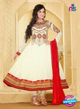NS10937 Ivory and Red Georgette Anarkali Suit