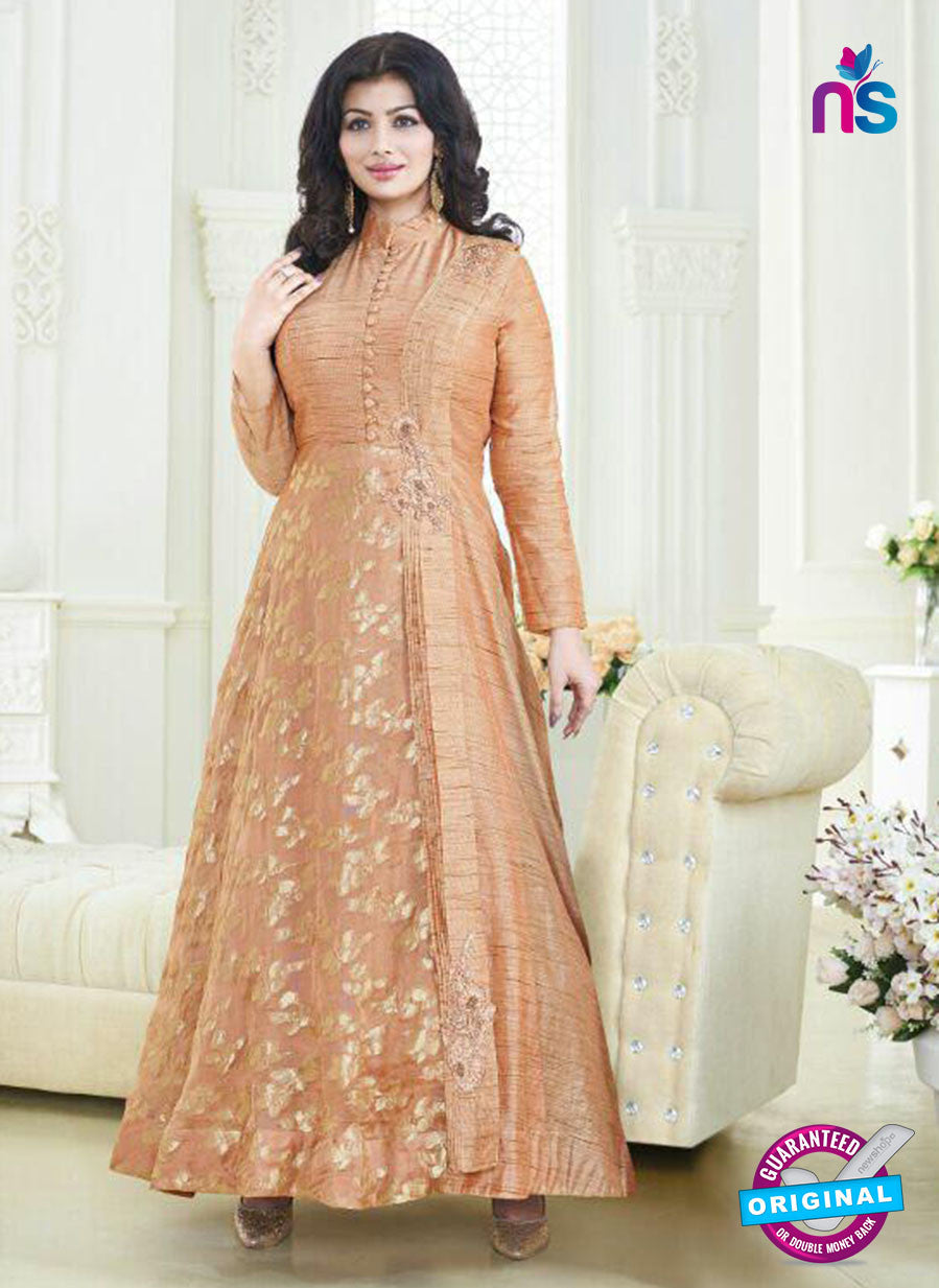 AZ 3826 Peach Silk Anarkali Suit