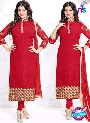 Aashirwad 18004 Red Party Wear Suit