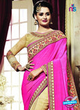 SNP 18006 Beige and Magenta Georgette/jacquard Wedding Wear Saree online