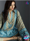 SC 13461 Blue  Embroidered Cambric Printed Suit