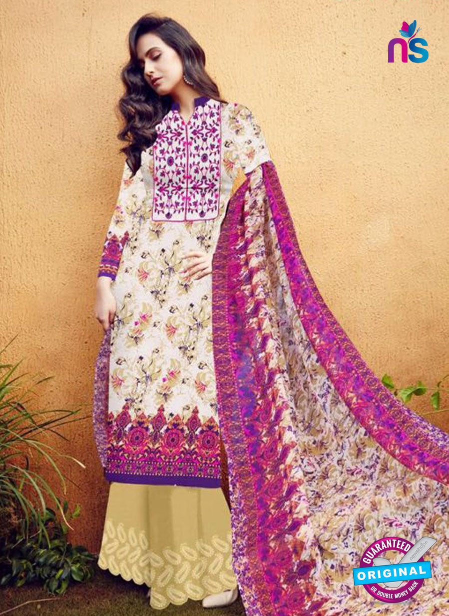 SC 12276 Multicolor and Beige Embroidered With Digital Printed Pure Lawn Pakistani Suit