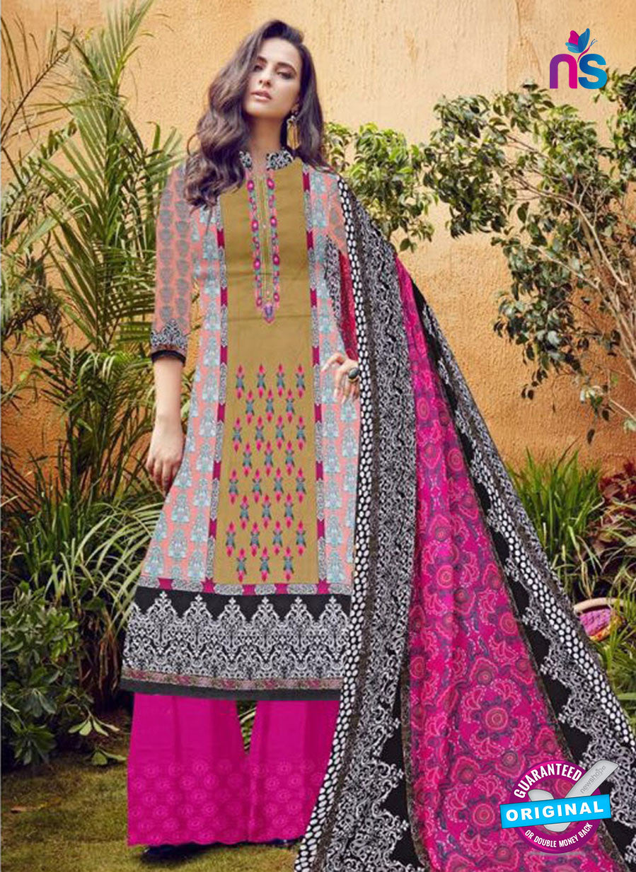 SC 12279 Multicolor and Pink Embroidered With Digital Printed Pure Lawn Pakistani Suit